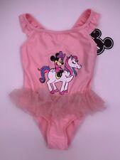 Disney Minnie Mouse Unicorn Glitter Swim Suit Girls Size 6-7 Years 122CM NWT