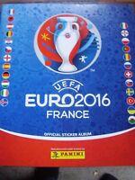 PANINI FOOTBALL FRANCE UEFA EURO 2016 STICKER BOOK ALBUM EMPTY & 6 STICKERS