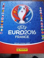 PANINI CALCIO FRANCIA EUROPEI 2016 STICKER BOOK album vuoto & 6 Adesivi