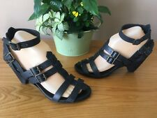 All Saints Spitafields black leather ankle strap sandals UK 5 EU 38 RRP £135.00