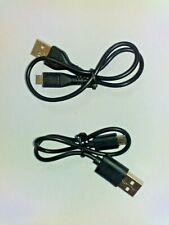 """Black Fast Charge Micro USB Data Sync Phone Camera Charger Cable 15"""" approx"""