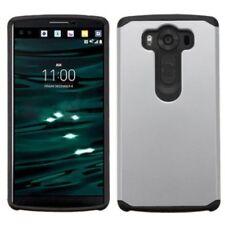 Fundas y carcasas de plástico de color principal plata para teléfonos móviles y PDAs LG