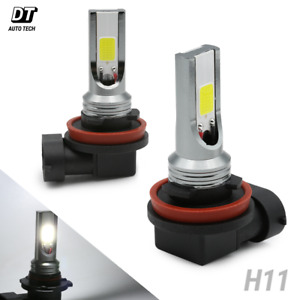 2X H11/H9/H8 6000K White COB High Power LED Fog Light Lamp Bulbs
