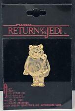 Vintage 1983 Star Wars Ewok Wicket Lapel Pin Adam Joseph Return of the Jedi
