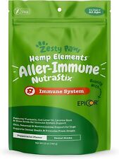 Zesty Paws Allergy & Immune Dental Sticks for Dogs - with Hemp, Turmeric