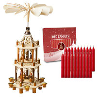 German Christmas Pyramid,Nativity Scene 21in Tabletop Decoration and 20 Candles