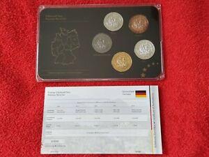 Germany Bayern 2012 Precious Metal Set Gold Ruthenium Platinum Silver Plated COA
