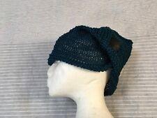 NWT Vivienne Westwood quirky dark teal blue cotton thread knitted summer hat