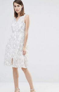 WHISTLES Ivory Lace Marrion Double Layer Dress BNWT UK 10 RRP £195