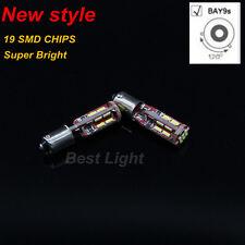 2x White 19SMD LED  120° BAY9s H21W Lights Indicator Turn Corner Bulbs