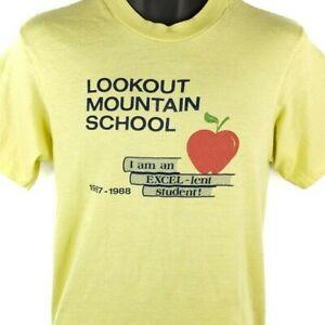 Lookout Mountain School T Shirt Vintage 80s 1987 1988 Arizona Made In USA Medium