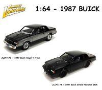 Johnny Lightning 1:64 1987 Buick Grand National GNX & Regal T-Type  (2) Cars Set