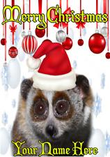 Lento Loris nnc121 humorístico tarjeta de Navidad Navidad A5 tarjeta de saludos Personalizados