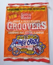 More details for crisp packet golden wonder groovers cheese & pickle flavour from 1993.