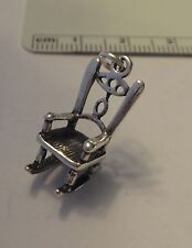 Sterling Silver 3D 21x9x12mm Rocking Chair Baby Furniture Charm