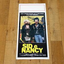 SID E NANCY locandina poster Gary Oldman Chloe Webb Cox Sex Pistols Drug X39