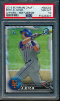 PSA 10 PETE ALONSO 1st 2016 Bowman Chrome Draft REFRACTOR Rookie RC ROY GEM MINT