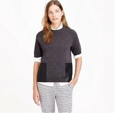 J. Crew Merino Wool Leather Pocket T-Shirt, size M, MSRP $138