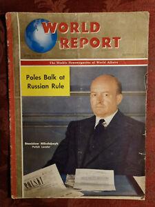 WORLD REPORT Magazine June 13 1946 STANISLAW MIKOLAJCZYK Poland