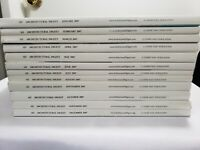 Architectural Digest Magazine Entire 2007 Year 12 Issues Including RALPH LAUREN