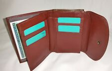 Porte monnaie porte feuille à fermoir en cuir réf FA307C marron