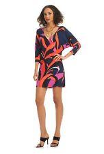 Trina Turk Matte Jersey Dominica 2 Arabesque Dolman Sleeve Pink Dress - XS