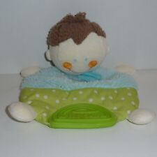 Doudou Poupée Babysun - Bleu Vert