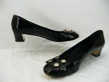 Gucci Black Patent Leather Studded Buckle Pumps Heels Shoes Sz 40 / 10