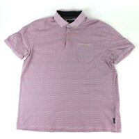 Ted Baker London Polo Shirt Pink Purple Short Sleeve Casual Men's Size 6