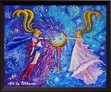 Pretty Soldier Sailor Moon Starry Night Poster Art Print Nursery Wall Decor A103