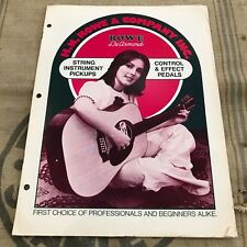 Original 1973 Rowe DeArmond Guitar Pickup and Pedal Catalog Case Candy 1970's