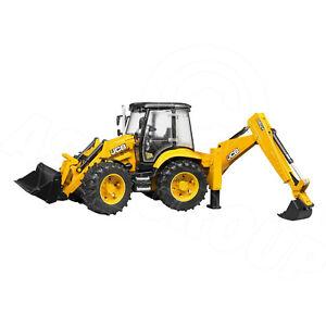 Bruder Toys 02454 Pro Series JCB 5CX ECO C/W Loader & Backhoe Tractor Toy 1:16