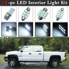 18-pc White LED Interior Light Bulbs Package Kit Fit 2002-2006 Chevy Silverado