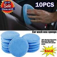 "10 x 5"" Microfiber Foam Sponge Polish Wax Applicator Car Detailing Cleaning Pad"