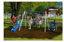 Swingset Multi Activity Fun Time Metal Play Summer Anchor UV Colorant Protectant