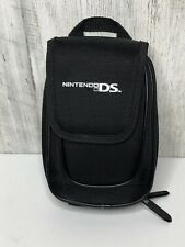 Nintendo DS Black Travel Carrying Case Storage Bag Official, Zippered Pockets