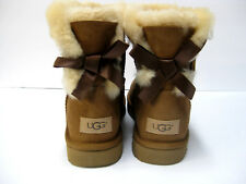 UGG MINI BAILEY BOW II WOMEN BOOTS SUEDE CHESTNUT US 8 /UK 6.5 /EU 39 /JP 25