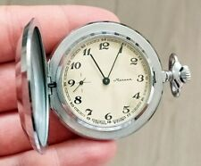 ☭ Pocket Watch Molnija Mechanical 3602 SU Original USSR Vintage Soviet SERVICED
