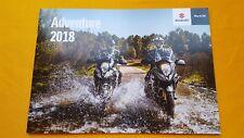 Suzuki Adventure V-Strom 1000XT 650 250 bike motorcycle sales brochure 2017 MINT