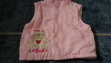 "Kittykat baby girl gilet by ""Rock a bye baby"" 12-18 months"