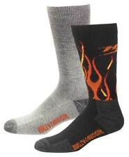 Harley-Davidson Men's Performance Flames Wool Riding Socks, 2 Pk. D99210270-001