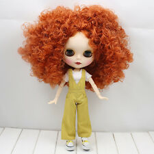 """12""""Neo Blythe Doll Copper red Hair Matte Face from Factory Joint Body Nude Doll"""