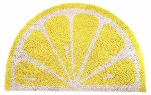 Colourful Lemon Shaped Coir Novelty Doormat - Indoor & Outdoor
