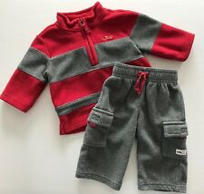 JANIE AND JACK Uptown Holiday Fleece Fire Truck Sweater & Pants Set 3-6 Months