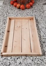 Handmade Serving Ottoman Tray -  Platter - Reclaimed Pallet Rustic Wood - Green