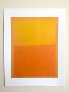 MARK ROTHKO ABSTRACT EXPRESSIONIST LITHOGRAPH PRINT POSTER ORANGE & YELLOW 1956