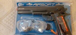 pistolet airsoft Colt 1911 Cybergun + lunettes + étui + billes. NEUF