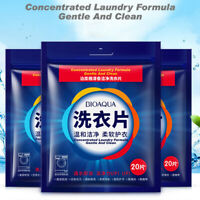 20Pcs Nano Super Concentrated Laundry Clean Gentle Washing Detergent Sheets HOT