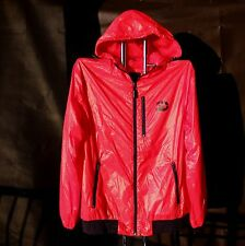 Drunknmunky Shiny Nylon Wet Look Red Jacket Mens Small / Medium