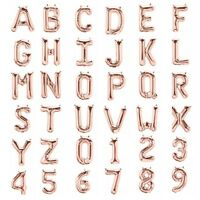 "Rose Gold 32"" Large A-Z Alphabet Letter 0-9 Number Self-inflating Foil Balloon"